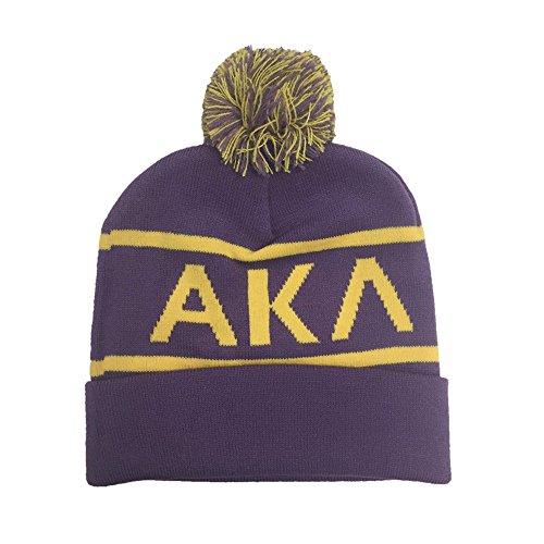 Alpha Kappa Lambda Fraternity Letter Winter Beanie Hat Greek Cold Weather Winter AKL - Kappa Beanie