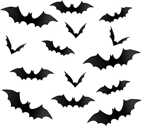Pack Of Three Spooky Decoration Halloween Stickers