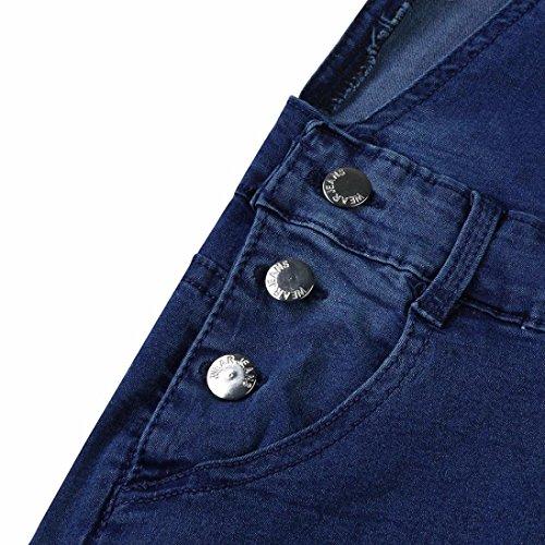 Mujeres Sylar del Delgados Vaqueros Pantalones Los Vaqueros Correa Las Agujero Ocasionales De Vaqueros Azul Pantalones De De La EláStica del Pedazo Oscuro Pantalones RYrxEqwYS