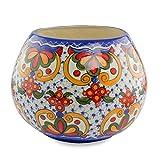 NOVICA Floral Ceramic Vase, Multicolor 'Florid Sheen'