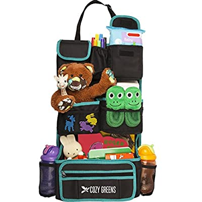 Cozy Greens Backseat Car Organizer | Must Have For Car Storage and Baby Kid Travel Accessories | + FREE GIFT Traveling With Kids eBook | Eco Friendly Material | Lifetime 100% Satisfaction Guarantee by Cozy Greens that we recomend individually.