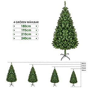 Künstlicher Weihnachtsbaum Außen.Homfa 210cm Künstlicher Weihnachtsbaum Tannenbäume Christbaum Mit