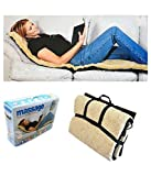I A S Full Body Massager Velvet Bed Mattress With 9 Motor Vibrator And 9 Soothing Heat