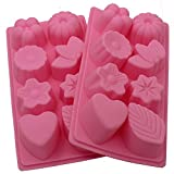 Toilet Bowl Cleaner Bomb Zicome 8-Cavity Silicone Mold for Soap Making, Cake Decoration, Set of 2
