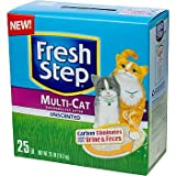 Fresh Step Premium Scoopable Unscented Clumping Cat Litter Multiple Cat Strength, 25 lbs., My Pet Supplies