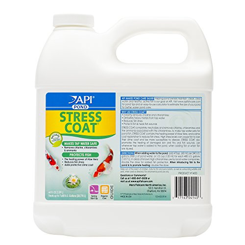 - API POND STRESS COAT Pond Water Conditioner 64-Ounce Bottle