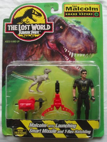 Ian Malcolm Chaos Expert with Launching Missile & T-rex Hatchling Dino Fighting From Jurassic Park - Series 1 Lost World: