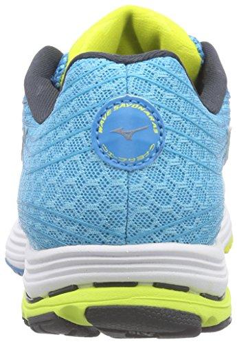 MizunoWave Sayonara 3 - Zapatillas de Running Mujer Azul - Blau (Danube/Bolt/BlueAtoll 46)