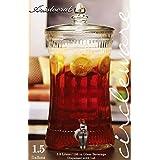 Circleware Aristocrat All Glass Beverage Dispenser 1.5 Gallon