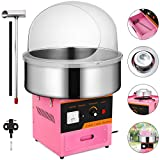 Happybuy Electric Candy Floss Maker With Cover 20.5 Inch Cotton Candy Machine 1030W for Various Parties (Cotton Candy Machine with cover)