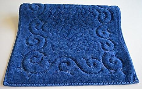 Tris parure tappeti bagno art regal colore blu amazon casa e