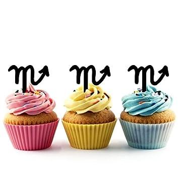 Innovedesire Zodiac Scorpio Cupcake Cake Topper para Tartas ...