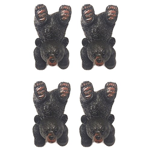 De Leon Playing Black Bear Drawer Pulls/Knobs (4) (Bear Knob Drawer Pull)