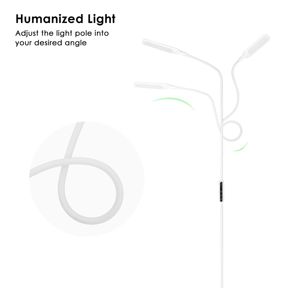 LED Floor Lamp, NACATIN Reading Lamps with 25 Styles of Lighting, Time Function, Touch & Remote Control Lamps LED for Living Room, Bedroom, Office, 9W, White by NACATIN (Image #9)