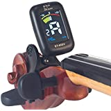 eno Professional Violin Viola Tuner, Colorful LCD Display Easy Control Clip on Accurate Violin Tuner (ET-05SV)