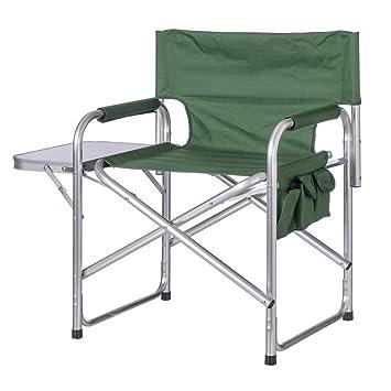 Silla Con De Verde Camping Mesa Playa O Plegable Para Director OPyN0vwnm8