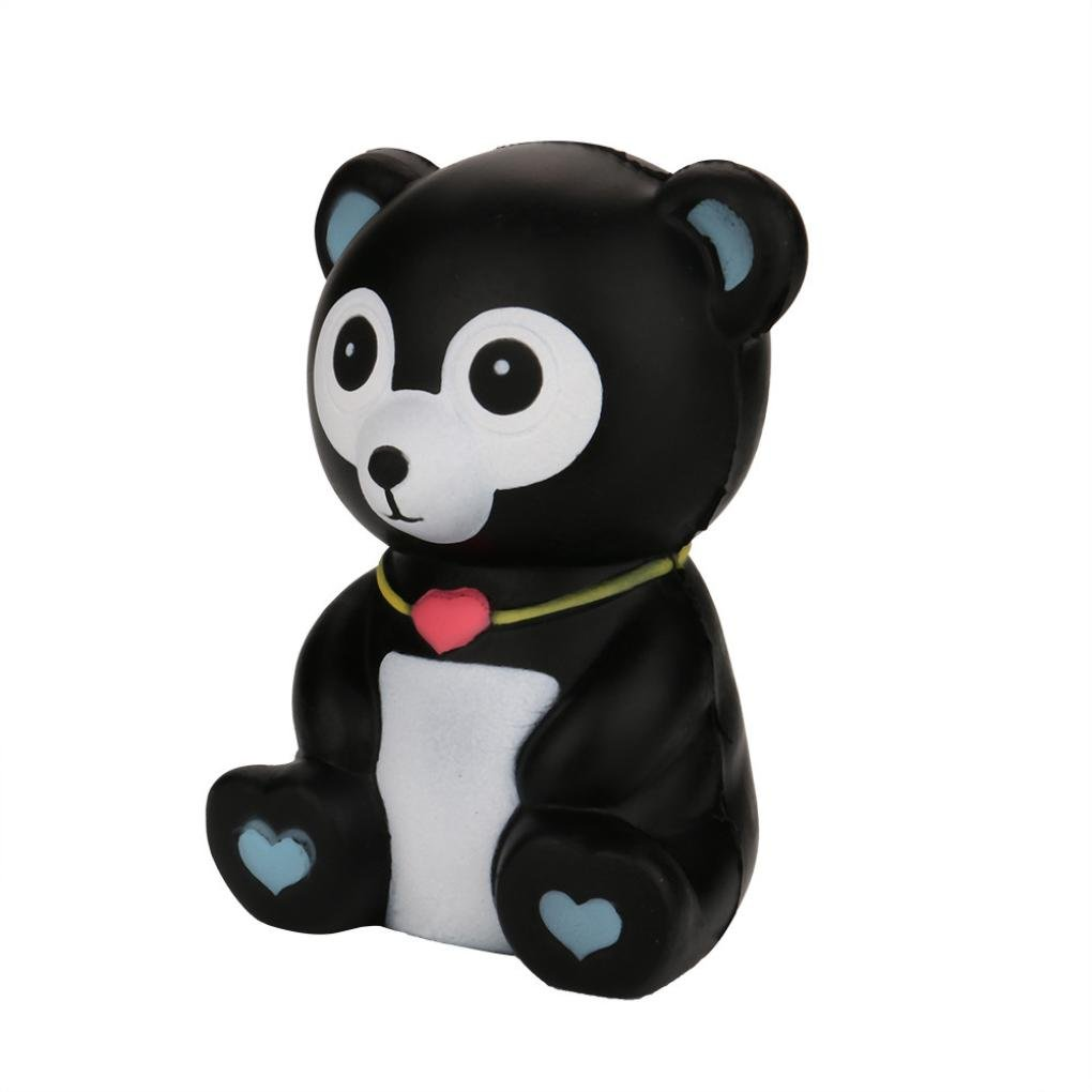 TrimakeShop Squeeze Black Bear Cream Bread Scented Slow Rising Toys Phone Charm Gifts