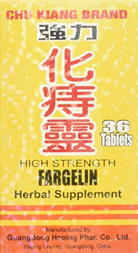 High Strength Fargelin 36 Tablets Per Bottle - 6 PAK ( 6x 36 Tablets) by Chu Kiang Brand