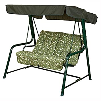 Deluxe Comfy 2 Seater Garden Swing Seat Lovely Floral