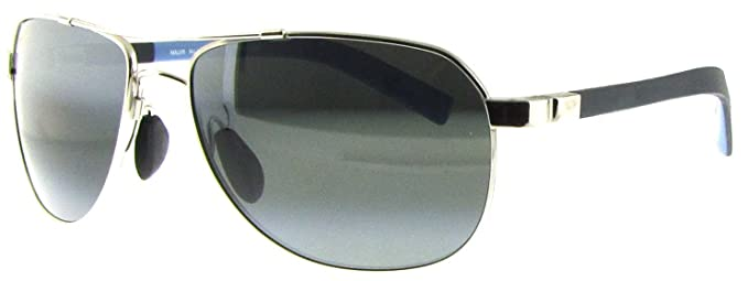 9d696db4b35 Image Unavailable. Image not available for. Colour  Maui Jim 327-17  Guardrails Silver with Blue   Neutral Grey Sunglasses NEW