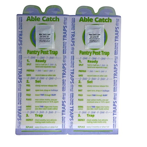 8 Pantry Moth Traps   Effective Non-toxic Pheromone Lure   USA Made   Guarantee by Able Catch (Image #2)