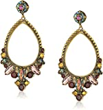 Sorrelli Mahogany Crystal Adorned Statement Drop Earrings
