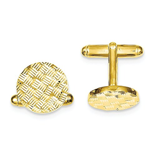 925 Sterling Silver Vermeil Round Woven Design Cuff Links Mens Cufflinks Man Link Fine Jewelry Gift For Dad Mens For Him