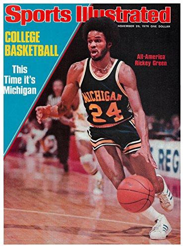 Sports Illustrated Magazine College Basketball (College Basketball...All American Ricky Green , Michigan, November 29 , 1976)