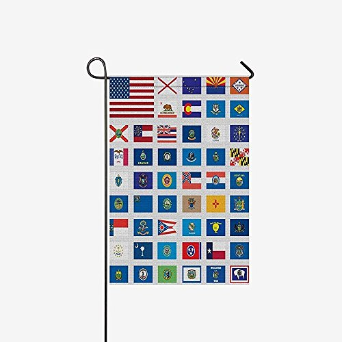 Garden Flags United States of America States Flags Collectio