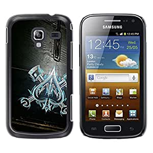 iKiki Tech / Estuche rígido - Of Spades Work Mechanic Wood Pattern - Samsung Galaxy Ace 2 I8160 Ace II X S7560M