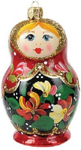 Doll Glass Ornament (Matryoshka Nesting Doll Polish Glass Christmas Ornament Made Poland Decoration)