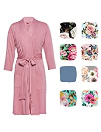 Posh Peanut Mommy Robe for Maternity, Labor Delivery Nursing Robe, Soft Bamboo Lounge Wear