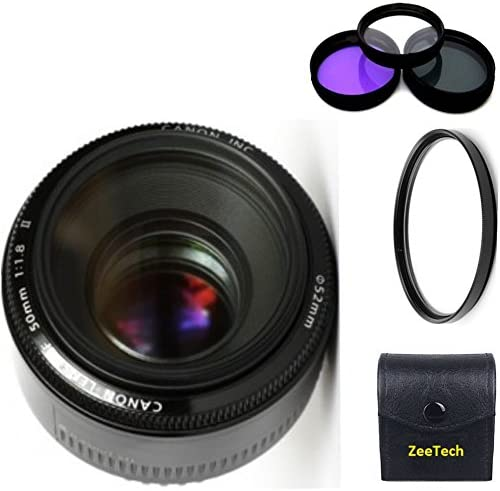Canon 50mm 1.8 II Lens 3pc High Definition Filter Kit High Definition U.V UV CPL FLD Filter