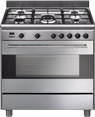 smeg bg91x9 piano cottura gas a acciaio inossidabile cucina