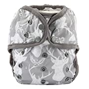 One Size Cloth Diaper Cover Snap With Double Gusset (Deer Head)