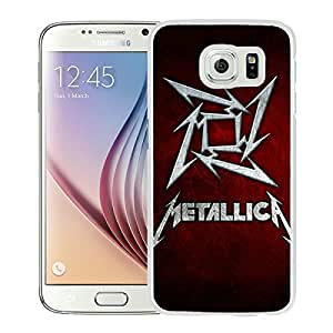 Samsung Galaxy S6 Case ,Unique And Fashionable Designed Case With Band Metallica White For Samsung Galaxy S6 Phone Case