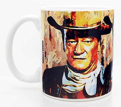 Mark Lewis Art John Wayne Coffee Mug 11oz Cup   Signed Artwork Titled - Gallant Duke -