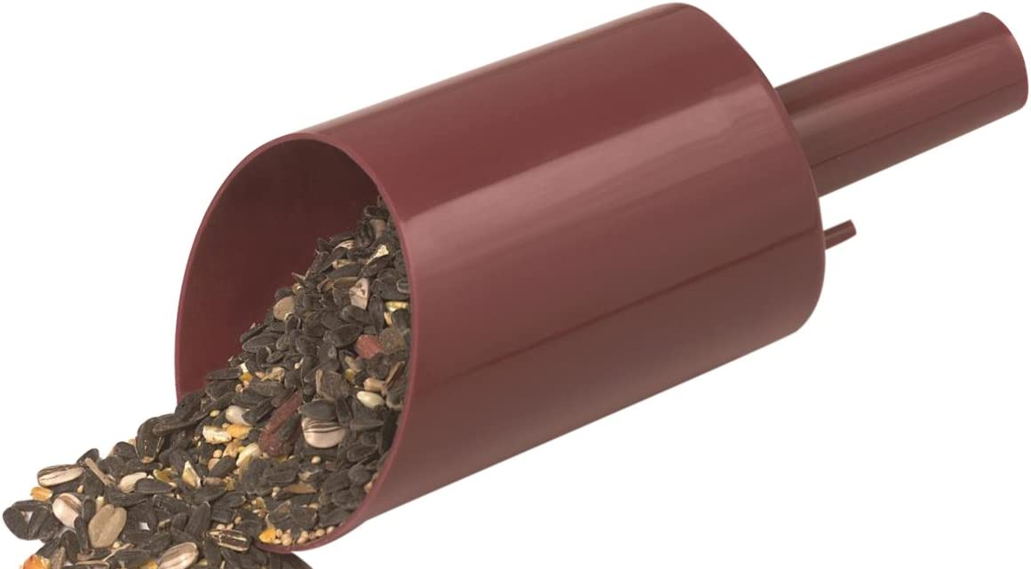 Heath Outdoor Products FS-1-8 Feed Scoop-Funnel,Burnt Red