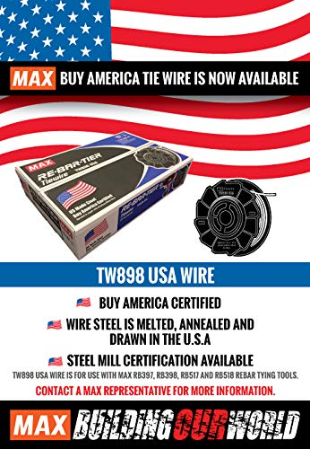 76a4653708ab TW898-USA Regular MAX TIE Wire 50 ROLL CASE - - Amazon.com