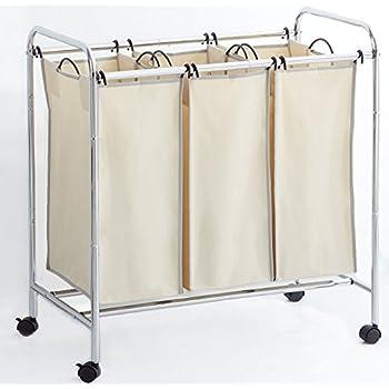 Amazon Com Aotuno Mobile 3 Bag Heavy Duty Laundry Hamper