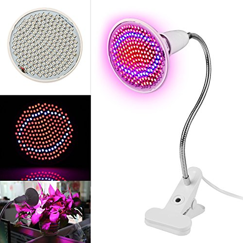 Lapha' US LED Plant Grow Light 200 LEDs Bulbs Clip Holder Display Desk Table Flower Mini Plants Growing Plantas Green House Tree Aquarium by Lpha'