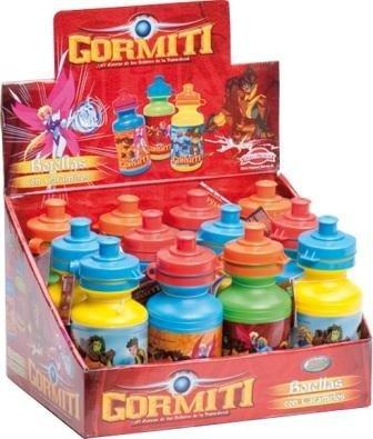 DISOK - Botella De Plastico Gormiti - Ideal para Cumpleaños, Fiestas, Comuniones OFERTA!
