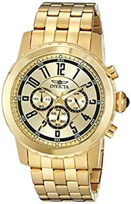 Invicta Men's 19465 Specialty 18k Gold Ion-Plated Watch from Invicta