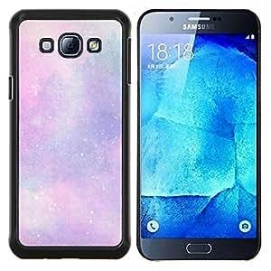 Caucho caso de Shell duro de la cubierta de accesorios de protección BY RAYDREAMMM - Samsung Galaxy A8 A8000 - estrellas del universo nubes cosmos rosa púrpura