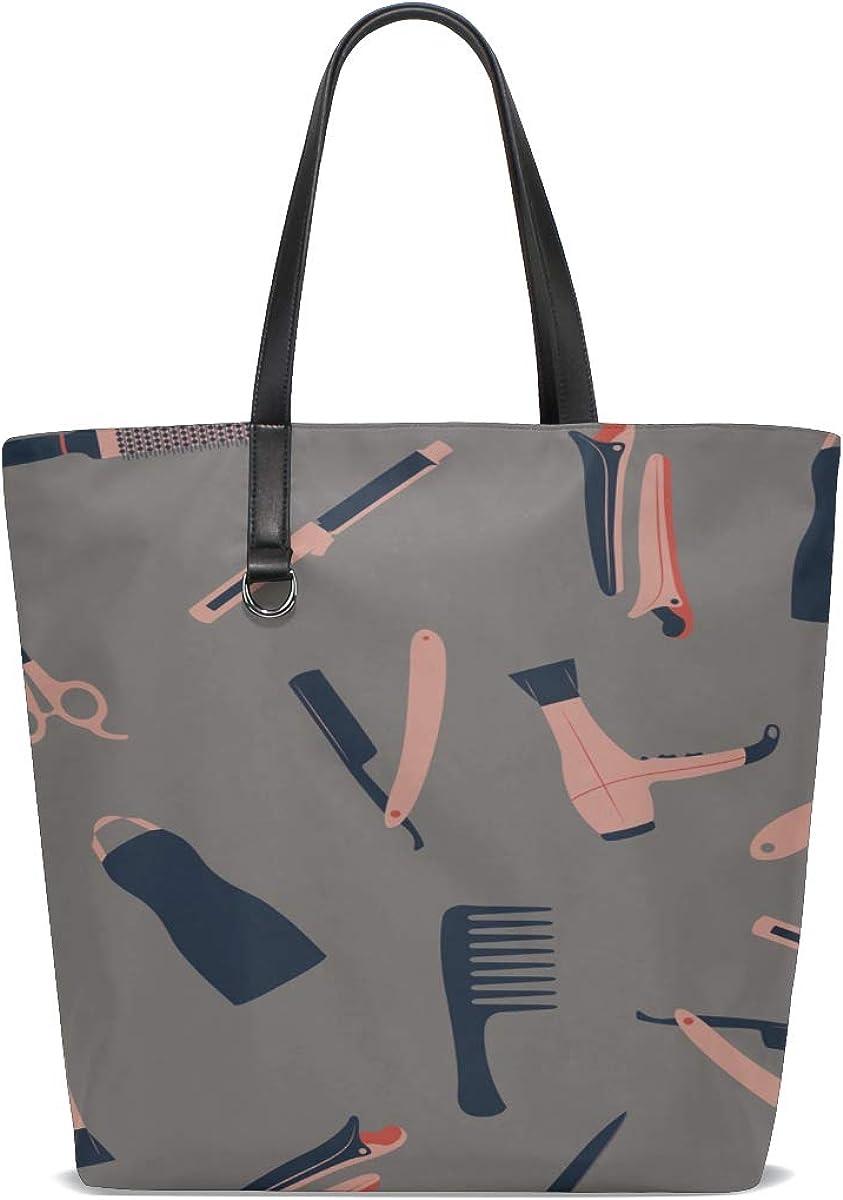 Yoga Tote Bag Handle Satchel Shoulder Bag Women Purse Messenger Bags Mens Tote Bags Cartoon Cute Fashion Girl Hair Curler Printing Women Shoulder Bag