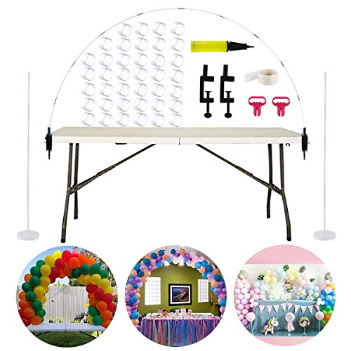 Table Balloon Arch Kit, Balloon Column Stand Kit Base and Pole for Birthday, Wedding Event, Christmas, Graduation Party by QIFU (Balloon Arch Kit) ()