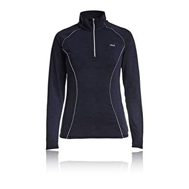 4570dcad1fd2 Rohnisch Women's Keep Warm 1/2 Zip Top - Large Black: Amazon.co.uk ...