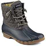 Sperry Top-Sider Women's Saltwater Quilted Nylon NY Gy Rain Boot, Navy/Grey, 10 M US