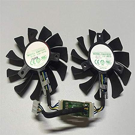 قطع غيار وإكسسوارات جديدة - مروحة تبريد بطاقة الرسومات بديلة 4 جيجابايت لـ ZOTAC GeForce GTX 970 4GB مروحة تبريد بتبديد الحرارة 4-دبوس رأس (مروحة مزدوجة)