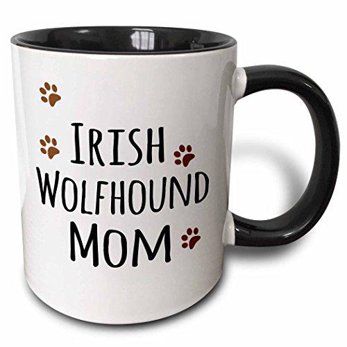3dRose 154139_4 Irish Wolfhound Dog Mom Mug, 11 oz, Black